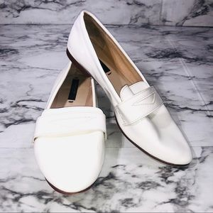 White Zara Basic Collection Loafers Size 36